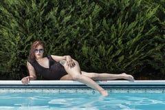 Brunetka bikini model Obrazy Stock