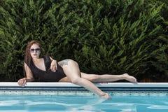 Brunetka bikini model Obraz Stock