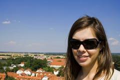 brunetka blask Zdjęcia Stock