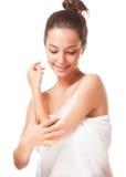 Brunetka kosmetyków piękno Obraz Royalty Free