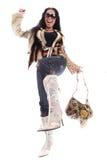 brunetka krok Fotografia Royalty Free