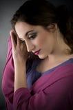 brunetka piękny portret Zdjęcie Royalty Free