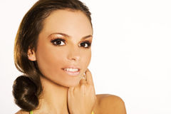 brunetka portret zdjęcie stock