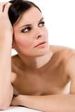 brunetka portret badania potomstwa Fotografia Royalty Free