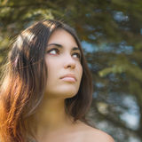 brunetka portret piękna Obrazy Royalty Free