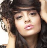 brunetka portret piękna Obraz Royalty Free