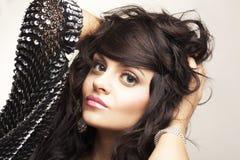 brunetka portret piękna Fotografia Stock