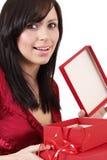 brunetka portret piękna kobieta Zdjęcia Stock
