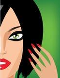 brunetka portret s Zdjęcia Royalty Free