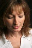 brunetka smutna piękno Zdjęcia Stock
