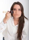 Brunetka stosuje makijaż Obraz Royalty Free