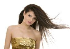 brunetka włosy tęsk Zdjęcie Royalty Free