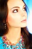 brunetka wzór portret Zdjęcie Royalty Free