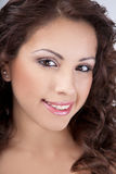 brunetka życzliwa Zdjęcie Stock
