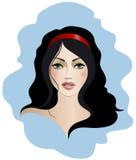 Brunetka z zielonymi oczami Zdjęcia Royalty Free