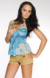 brunetki atrakcyjna dziewczyna Zdjęcie Stock
