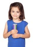 brunetki barwiony dziewczyny trochę ołówek obrazy stock