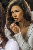 Brunetki bielizny model W Domu Fotografia Royalty Free
