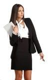 brunetki biznesowa dziewczyny pozycja Obrazy Royalty Free