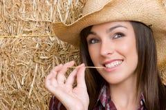 brunetki cowgirl Zdjęcie Royalty Free