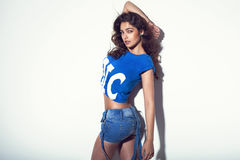 brunetki damy target470_0_ seksowny obrazy royalty free