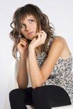 brunetki dziewczyna Fotografia Stock