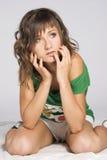 brunetki dziewczyna Zdjęcia Royalty Free