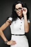 brunetki dziewczyny szkła Zdjęcie Royalty Free