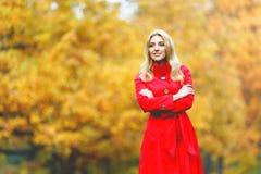 brunetki dziewczyny złoci liść Obraz Royalty Free