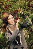 brunetki dziewczyny złoci liść Model moda model fotografia royalty free