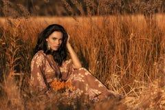 Brunetki dziewczyny zbliżenia portret Fotografia Royalty Free