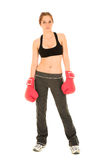 brunetki fitness seksowna kobieta fizycznej fotografia stock