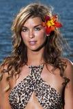 brunetki headshot model Zdjęcia Royalty Free