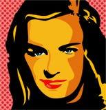 brunetki kobieta royalty ilustracja