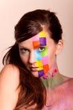 brunetki kolorowi makeup kobiety potomstwa Obraz Royalty Free