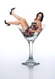 brunetki Martini young szklanych Obrazy Stock