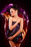 brunetki mody dziewczyny wzorcowy target1480_0_ zmysłowy seksowny Zdjęcia Stock