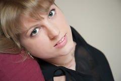 brunetki oczu dziewczyny zieleń Zdjęcia Royalty Free