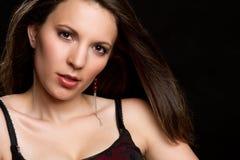 brunetki piękna kobieta zdjęcie stock
