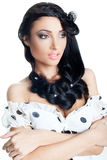 brunetki piękny zbliżenie modny h Zdjęcia Royalty Free