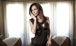 brunetki piękna kobieta obrazy stock