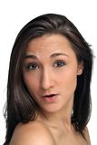 brunetki piękny headshot Fotografia Stock
