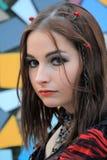 brunetki piękny oko s Fotografia Stock