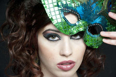 brunetki piękny studio Fotografia Royalty Free