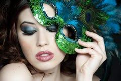 brunetki piękny studio Zdjęcia Royalty Free