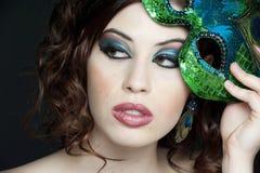 brunetki piękny studio Fotografia Stock