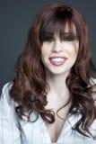 brunetki piękny studio Zdjęcie Stock