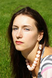 brunetki portreta kobiety potomstwa Fotografia Stock