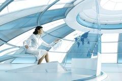 brunetki przyszłość ja przejrzysty target1200_1_ seksowny dotyk Zdjęcie Stock