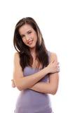 brunetki seksowni uśmiechnięci kobiety potomstwa Zdjęcie Stock